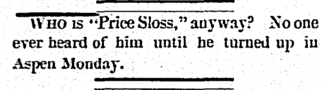 Who is Price Sloss?